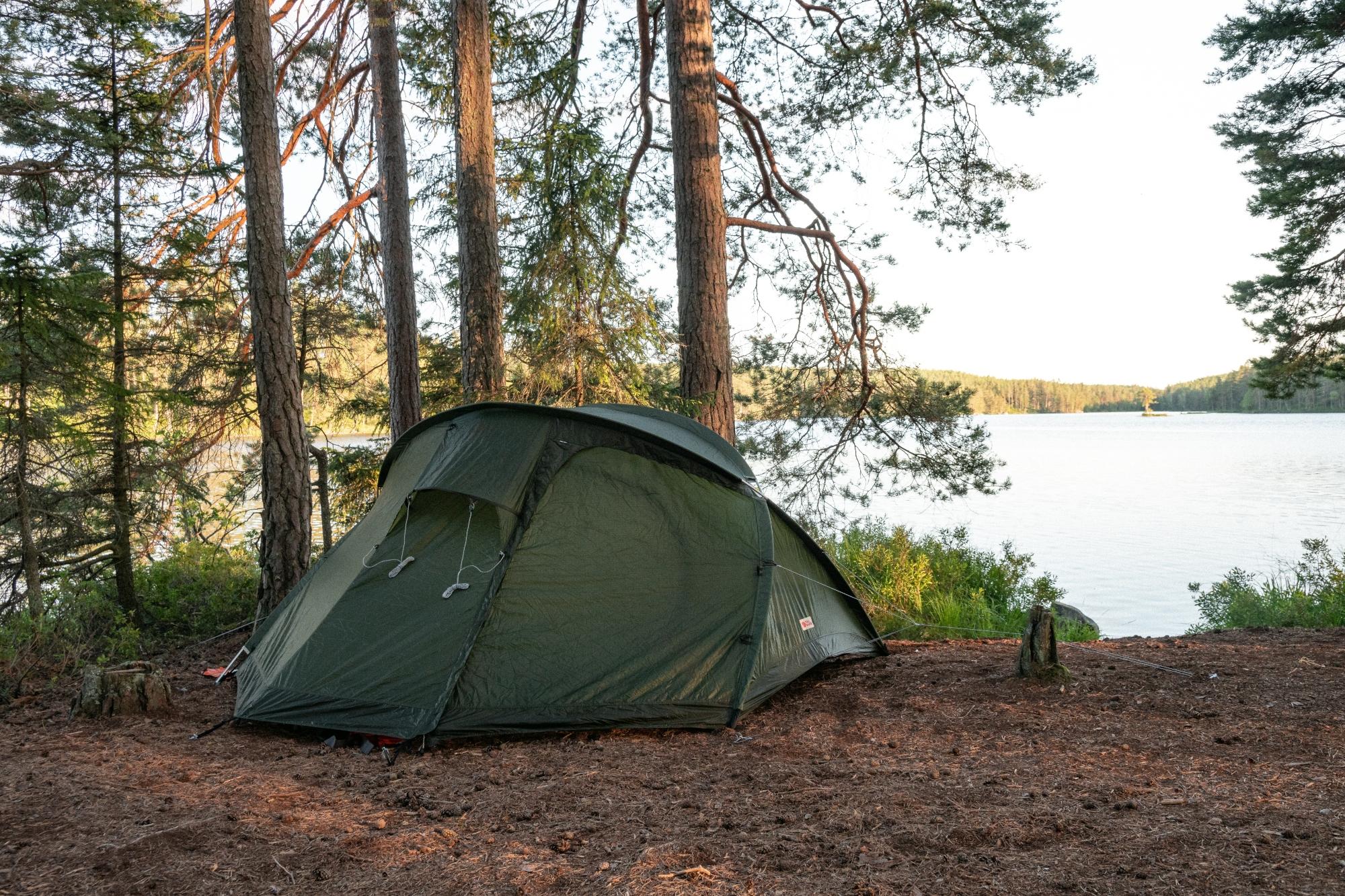 tält sjö